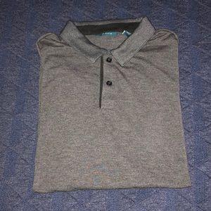 Perry Ellis Men's Polo short sleeve shirt-Grey